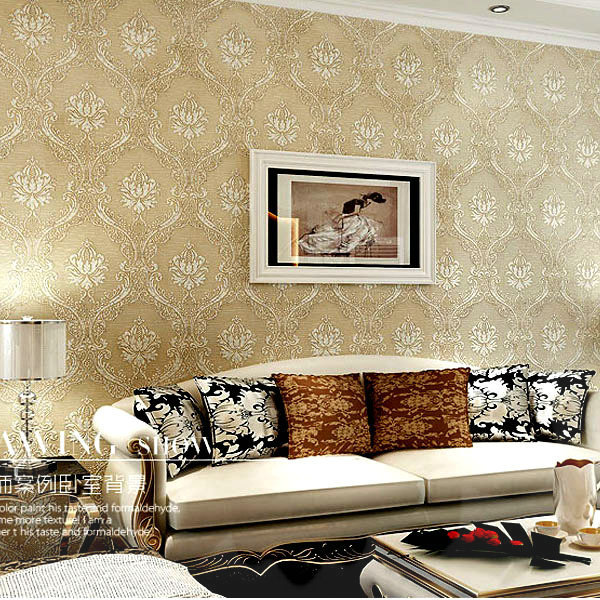 Europeu Super Deluxe 3d Non-woven wallpaper roll
