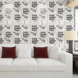 Fashion English Letters PVC WallPaper
