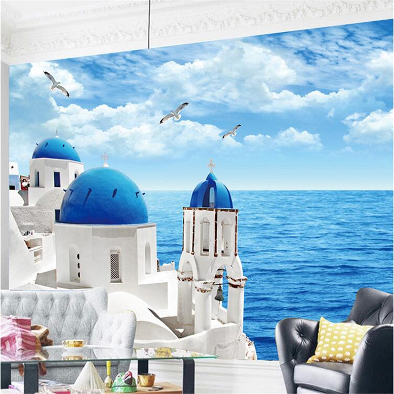 Mediterranean style non woven wallpapers