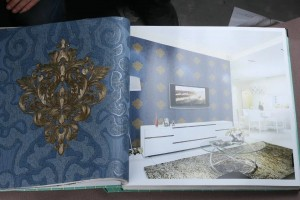 Fine Decor Damask Wallpaper Blue Color Design