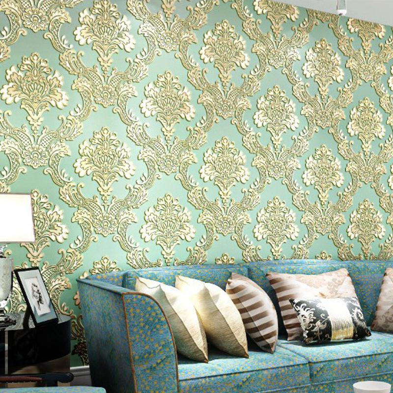 Pvc European Luxury Wallpaper